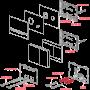 Кнопка управления Alcaplast STRIPE-GL1200