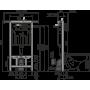 Инсталляция для унитаза Alcaplast AM102/1120 Jadromodul