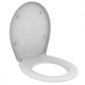 """""""СеваДуо"""" сиденье и крышка для напольного унитаза W719901, пластиковые шарниры, белый"""