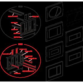 Винт рамы кнопки удлиненный 1 шт. AlcaPLAST MN0102C-DLOUHY