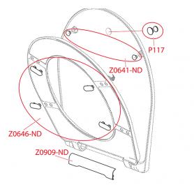 Магнит вставки сидения AlcaPLAST P117
