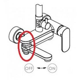 Переключатель (кран-букса) для душевой системы OPAL Bravat P1855008