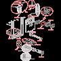 Инсталляция для унитаза Alcaplast AM1115/1000 Renovmodul Slim